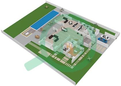المخططات الطابقية لتصميم النموذج AMBROSE فیلا 6 غرف نوم - ماجستيك فيستاز