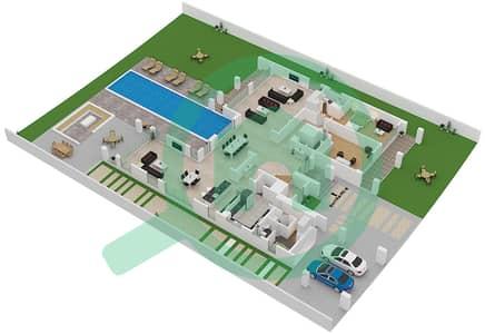 المخططات الطابقية لتصميم النموذج ROWAN فیلا 6 غرف نوم - ماجستيك فيستاز
