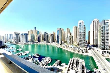 شقة 3 غرف نوم للايجار في دبي مارينا، دبي - High Floor | Full Marina Views | 3 Beds