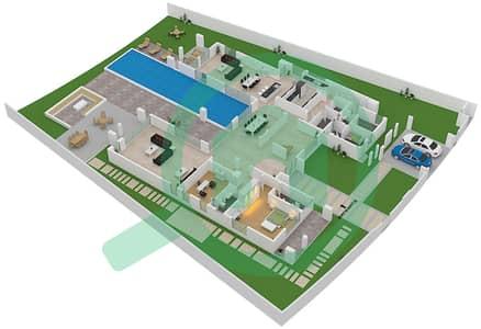 المخططات الطابقية لتصميم النموذج ALBATROSS فیلا 6 غرف نوم - ماجستيك فيستاز