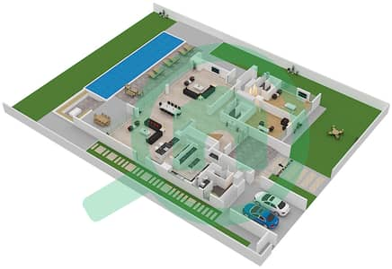 المخططات الطابقية لتصميم النموذج MULLIGAN فیلا 6 غرف نوم - ماجستيك فيستاز
