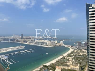 3 Bedroom Flat for Rent in Dubai Marina, Dubai - Above 70th floor| Spacious Sea View 3BR