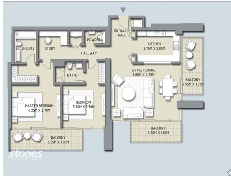 19 Three Balconies | Chiller Free | Extended Closet