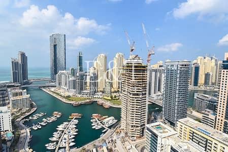 فلیٹ 1 غرفة نوم للايجار في دبي مارينا، دبي - Full Marina View | Furnished Option | 12 Cheques