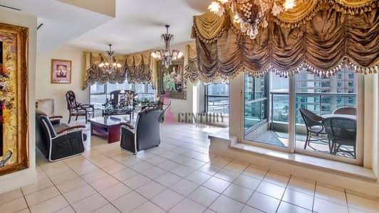 فلیٹ 4 غرف نوم للايجار في دبي مارينا، دبي - Partial Marina View | 4 BR + Maid | Chiller Free