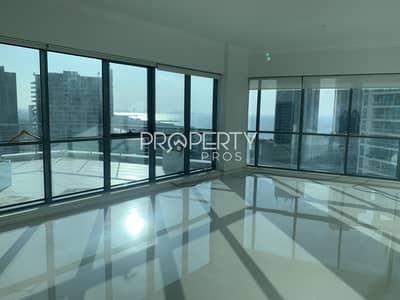 4 Bedroom Flat for Rent in Dubai Marina, Dubai - Sea and Marina View | Huge Layout | Private Terrace