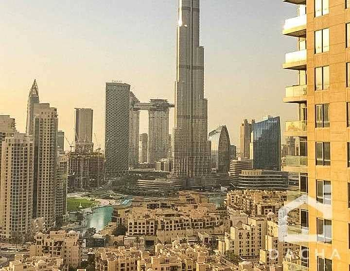 12 Upgraded 2 Bed / Burj Views / Vacant