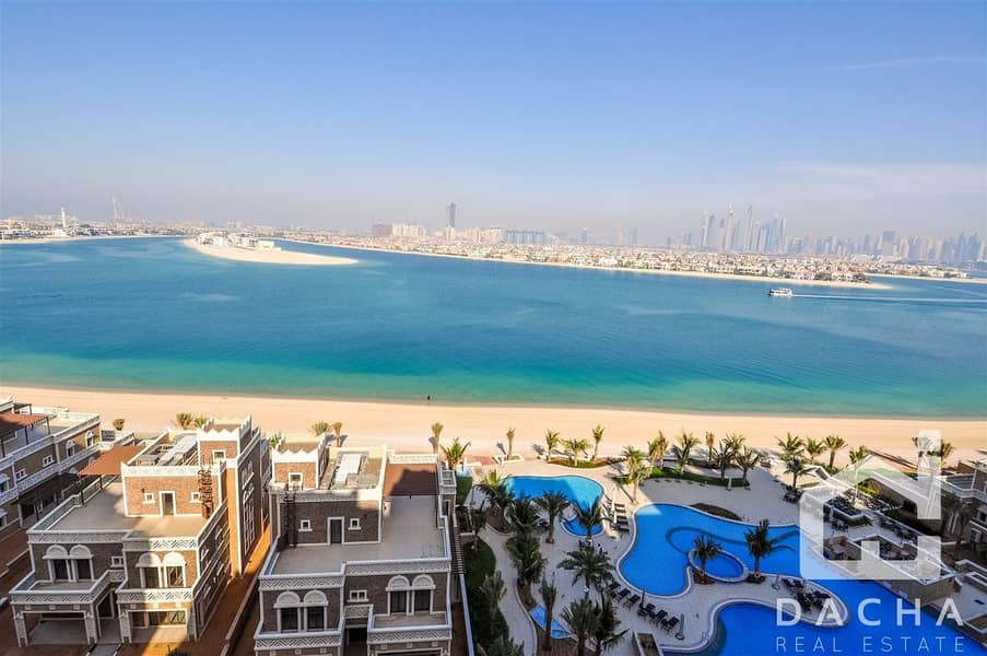 17 2br+maid*Full Palm and Marina Views*Furnished