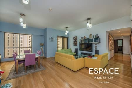 شقة 3 غرف نوم للايجار في جميرا بيتش ريزيدنس، دبي - Wooden Floor | Upgraded | Unfurnished