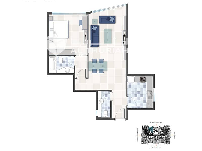 12 1 BR | Well-Maintained Building | Free 1 Month Rent