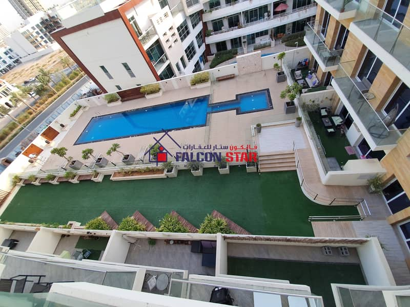 CONNECTED DEWA - LUXURY FURNISHED BRAND NEW STUDIO l POOL VIEW