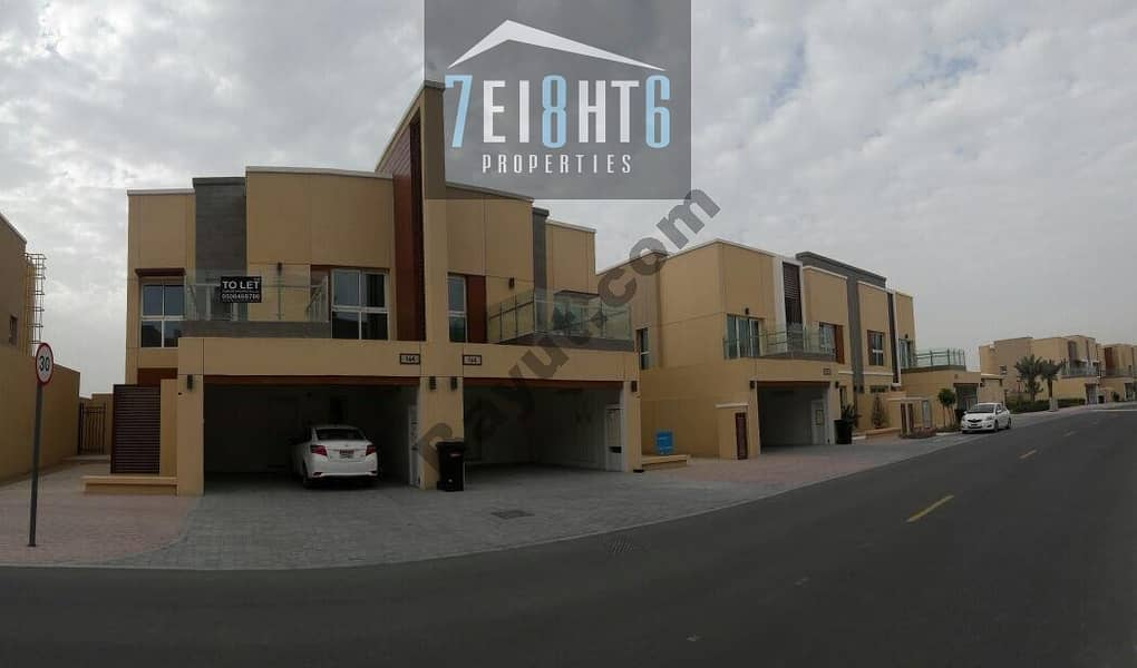 Amazing value: 3 b/r semi-independent villa + maids room + large garden for rent in Barsha South 2