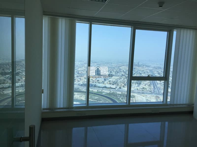 26 Full Burj Skyline View   4 Parkings   Partitioned with Gypsum + Glass   Combined units