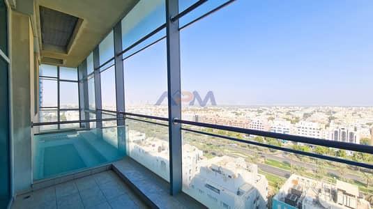 شقة 2 غرفة نوم للايجار في دانة أبوظبي، أبوظبي - Huge Balcony ! 2BHK with Kitchen Appliances  & Maid