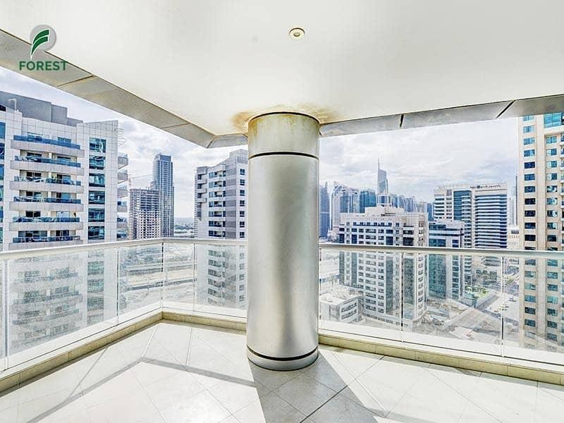 Large Balcony   Unfurnished 2BR  Near Marina Mall