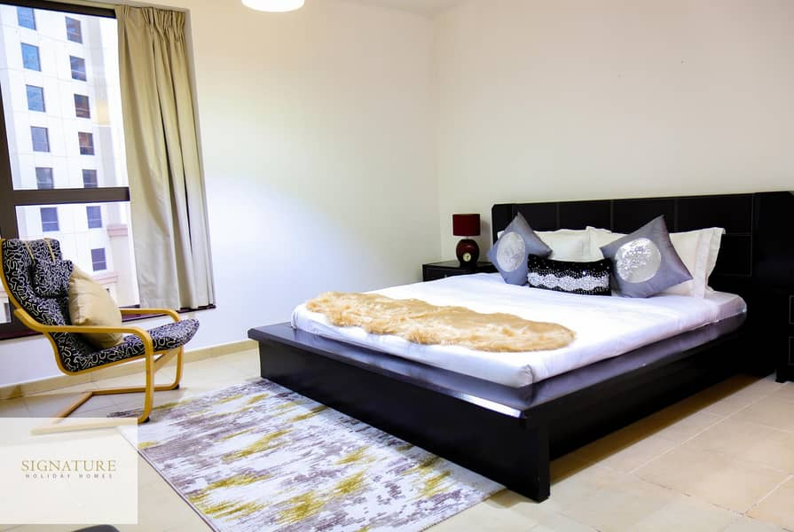 Spacious 1BR in JBR | Furnished | High Floor| Sea View