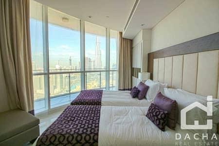 فلیٹ 3 غرف نوم للايجار في وسط مدينة دبي، دبي - Furnished / 04 series / Mid Floor
