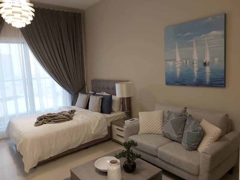 10 Brand New Lovely Furnished Studio for Rent at DWC.