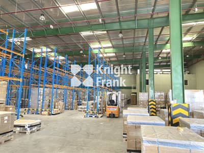 Warehouse for Sale in Jebel Ali, Dubai - Racked Warehouse with Large Corporate Office
