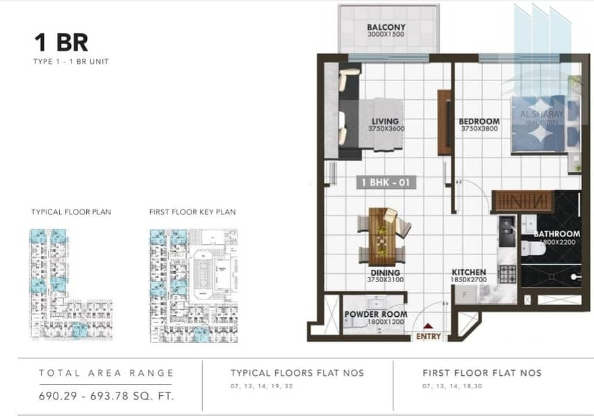 12 FREEHOLD Premium 1BR Flats for sale in Arjan with high RIO and No Commission
