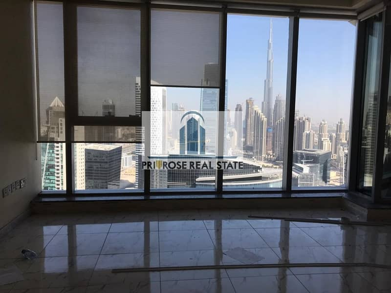 2 Unbeatable Burj Skyline View   4 Parkings   Partitioned with Gypsum + Glass   Combined units