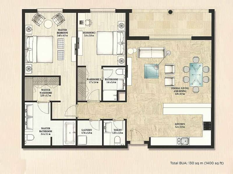 10 Two Beds   High Floor   Golf Course Facing