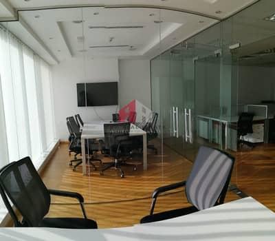 مکتب  للايجار في الخليج التجاري، دبي - Furnished Office With 2 Glass Partitions /Pantry/ Store room