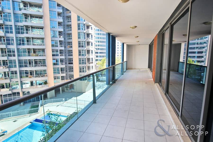 1 Large Balcony | Pool Views | 2 Bedrooms