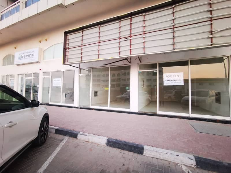 13 shops on main road starting from just aed 25000 per year!! 2 months free!!!