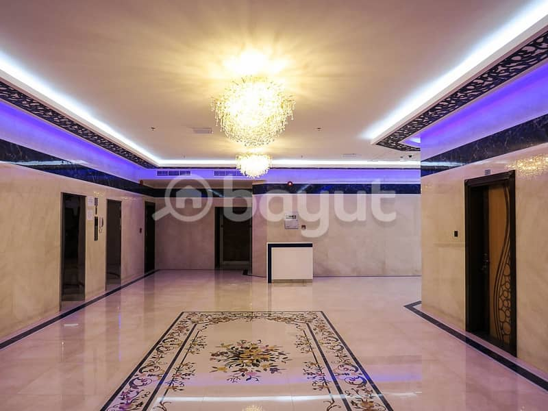 16 Brand New!! Huge Studio with separate kitchen for just aed 16000/year