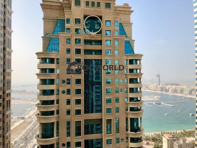 Partial Sea & Burj Khalifa View| 2 Balconies| Large Layout