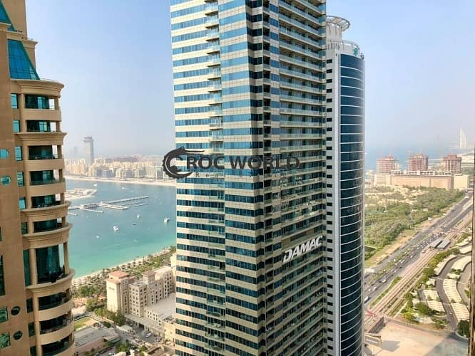15 Partial Sea & Burj Khalifa View| 2 Balconies| Large Layout