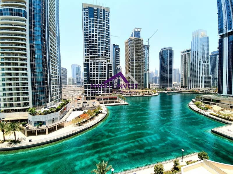 Fully fitted office with partial lake view for sale at  AED 650/Sq.ft.
