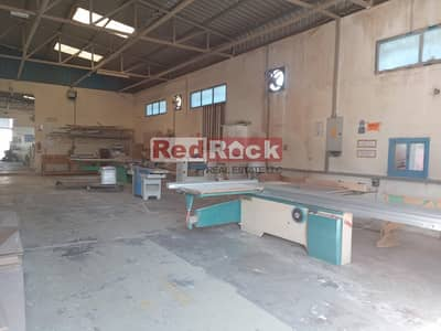 Warehouse for Rent in Al Quoz, Dubai - Huge Open Land with Warehouse and Office in Al Quoz
