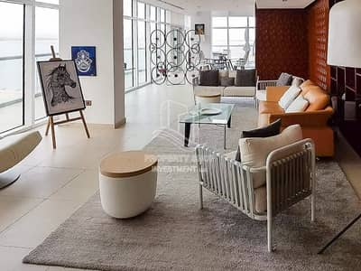 4 Bedroom Penthouse for Sale in Al Raha Beach, Abu Dhabi - Captivating Sea View & Fully Furnished Apt w/ Rent Refund!