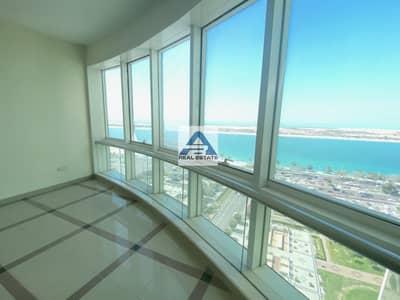 شقة 3 غرف نوم للايجار في شارع الكورنيش، أبوظبي - Sea View ! Three Bhk ! Maids RM ! Near to the Corniche