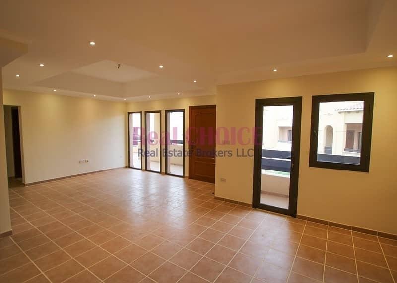 Upfloor 2bedroom villa with easy 12 chqs ayment plan