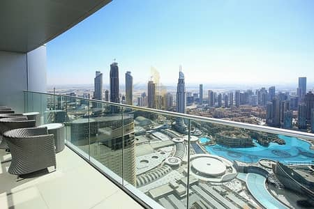 5 Bedroom Hotel Apartment for Sale in Downtown Dubai, Dubai - Fully Furnished | Luxury 5 Bedroom The Address The Blvd | Burj and Fountain Views