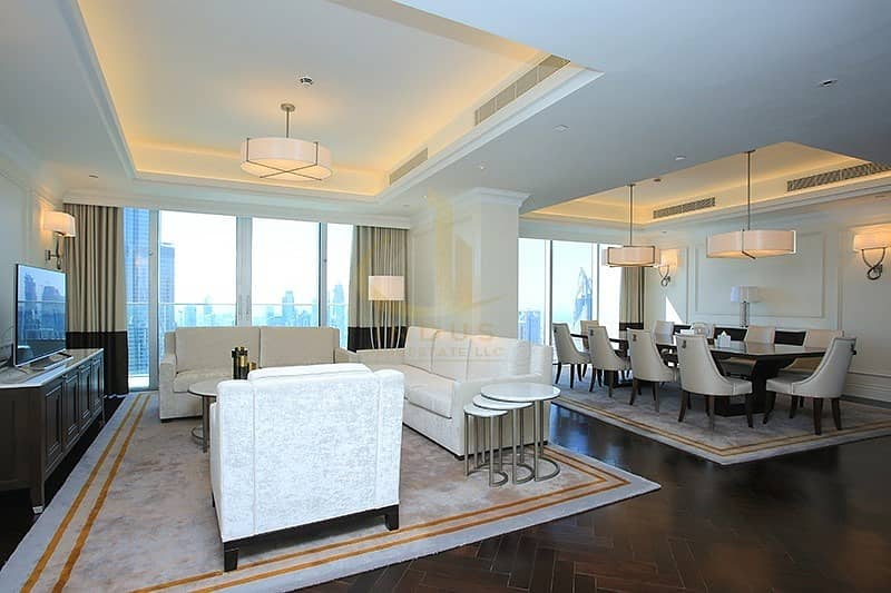 2 4BR+M The Address The Blvd | Burj and Fountain Views