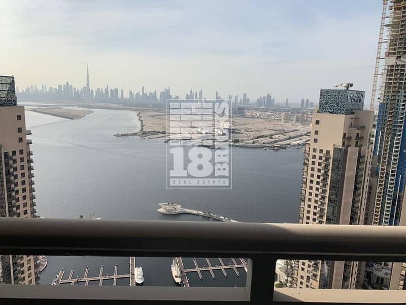 2 Unobstructed Views of Creek & Burj Khalifa