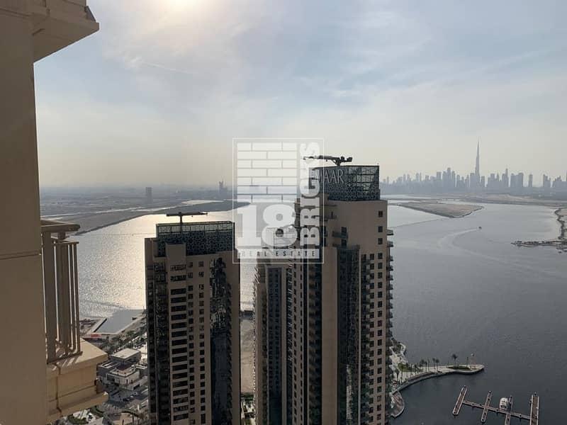 25 Unobstructed Views of Creek & Burj Khalifa
