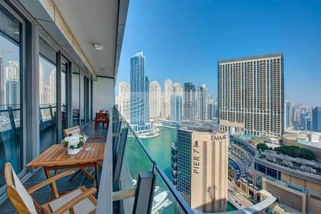 فلیٹ 2 غرفة نوم للبيع في دبي مارينا، دبي - Next To Marina Mall  2 BR High Floor   Marina View