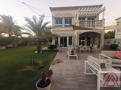 2 Bedroom Villa for Rent in Jumeirah Village Triangle (JVT), Dubai - Corner Villa large plot opp. to Park JVT 2+M for 120k