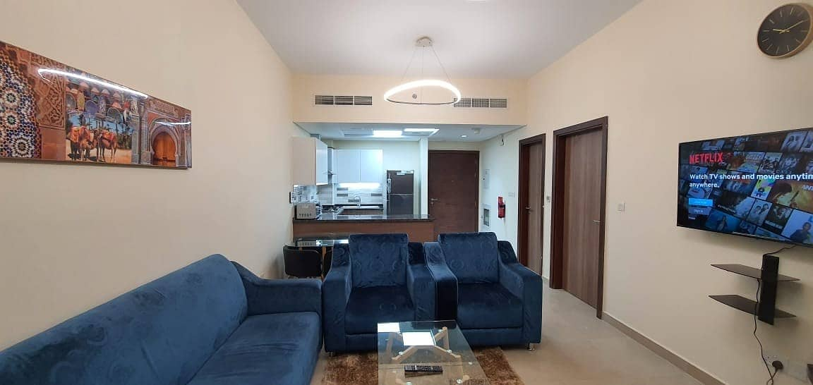 2 DEWA & CHILLER CONNECTED FULLY FURNISHED ONE BEDROOM APARTMENT IN AZIZI SAMIA