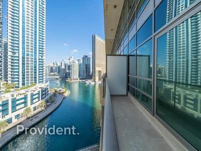 شقة 2 غرفة نوم للايجار في دبي مارينا، دبي - Waterfront Duplex | Full Marina View | Sea View