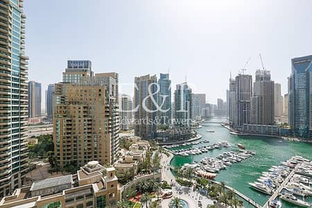 2 Bedroom Apartment for Sale in Dubai Marina, Dubai - Exclusive|Beautiful Marina View|Rented|Mid Floor