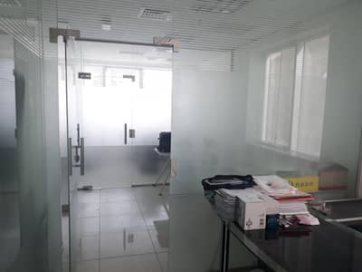 Office for Rent in Corniche Al Buhaira, Sharjah - Glass Partitions/Fitted/Corniche view/Low rent !!