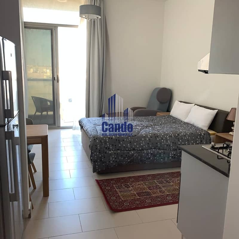 Pool View Fully Furnished Studio 4 or 6 Cheques