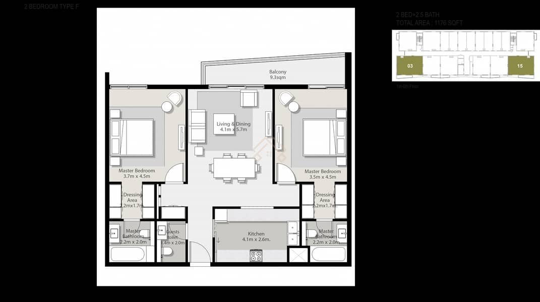 10 Beautifully designed Stunning 1 Bedroom Apartment For Sale.