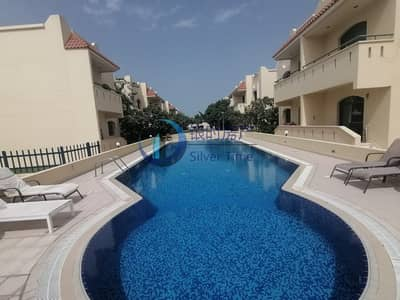 3 Bedroom Townhouse for Rent in Umm Suqeim, Dubai - 3 Bed plus maids compound villa With Pool and gym